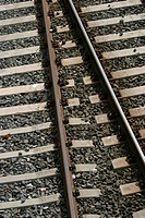 Railroad, track, way, path, pathway, stones (thumbnail)