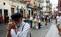 Street scene in San Telmo  Buenos Aires, Argentina