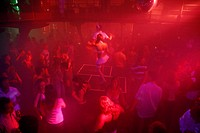 People dancing at the Duplex night club, Nove Mesto, Prague, Czech Republic