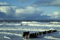 Bad, baltic, Baltic Sea, banks, buhne, cloud, clouded (thumbnail)
