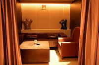 Interiors_leisure space of stateroom in western restaurant with luxury style
