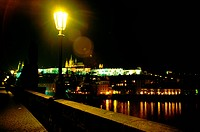 Night view, scene, prague, Czech, Europe, tourist resort (thumbnail)