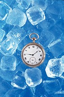 clock, water, house item, time, ice, nature
