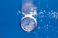 watch, waterdrop, clock, house item, time, water