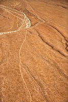 Aerial of desert landscape in Arizona, USA