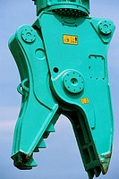 Detail of heavy duty pulveriser attachment