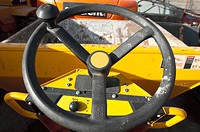 Dumper truck steering wheel