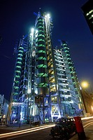Lloyds of London Building at night. London. United Kingdom