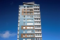 Apartment building built wiht sustainable materials