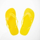 Yellow plastic thong sandals