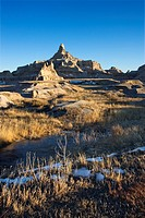 Landscape in Badlands National Park, South Dakota (thumbnail)