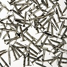 Pile of nails against white background
