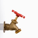 Brass hot water faucet
