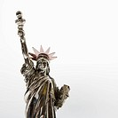 Statue of Liberty reproduction on white background