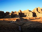 Landscape in Badlands National Park, South Dakota