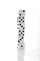 Stack of white dice