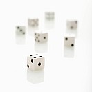 Group of white dice