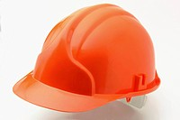 Cutout of a hard hat