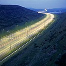 M62 at night, United Kingdom