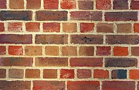 Decorative brickwork: English bond. This pattern comprising alternating courses of headers and stretchers