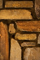 Close-up detail of stone wall in home (thumbnail)