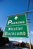 Signs for Whistler Blackcomb