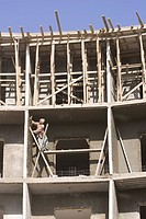 Building Exterior, Building Structure, Casual Clothing, Clear Sky, Construction Site