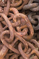 Chain, Link, Heap, Close_Up, Attached