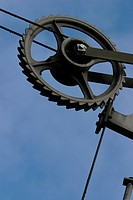 wheel, pulley, close_up, metal, old, equipment