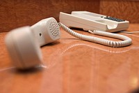 telephone receiver, handset, focus, blur, arrangement