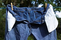 Close_Up, Clothes Peg, Clothesline, Day, Denim