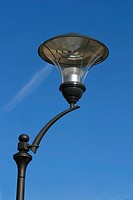lamppost, lamp, glass, rod, close_up, clouds