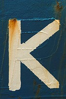 Blue, Letter K, Close_Up, Capital Letter, Alphabet