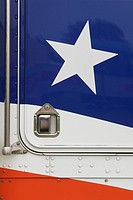 Blue, Handlebar, Design, Close_Up, American Flag
