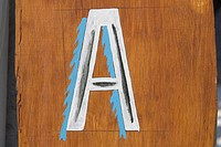 Brown, Close_Up, Capital Letter, Alphabet