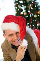 Man in santa hat (thumbnail)
