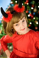 girl in devil costiume