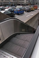 moving, escalator, modern, architecture, design, style