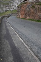 Car, Cliff, Day, Footpath, Grass