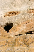 scenic, nature, sandstone, eroded, erosion, gullies