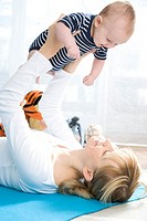 Happy mother with infant (thumbnail)