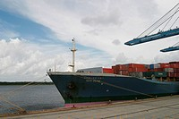 water, ship, transporter, industry, goods, containers