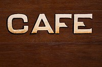 Brown, Close_Up, Capital Letter, Cafe, Alphabet
