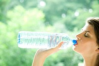 Woman with bottle of water (thumbnail)