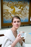Young woman with coffee (thumbnail)