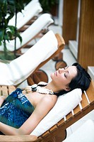 Woman on deckchair (thumbnail)