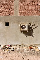 Brick Wall, Day, Building Structure, Building Exterior, Air Conditioner