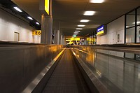 Blurred Motion, Glass, Escalator, Building, Airport