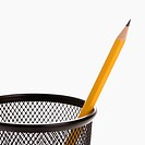 Single sharp pencil in a pencil holder