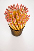 Group of pencils in pencil holder